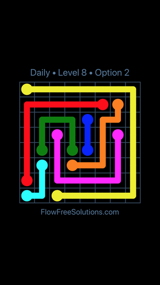 Solution and Answer to the Puzzle for Flow Date Tuesday, March 15, 2016 Level 8