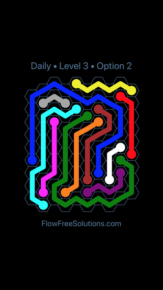 Solution and Answer to the Puzzle for Hexes Date Monday, January 7, 2019 Level 3