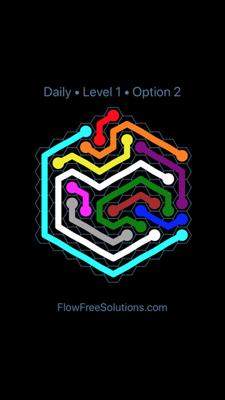 Solution and Answer to the Puzzle for Hexes Date Friday, January 11, 2019 Level 1