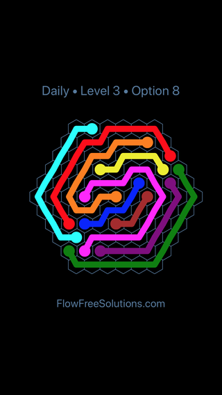 Solution and Answer to the Puzzle for Hexes Date Friday, January 11, 2019 Level 3