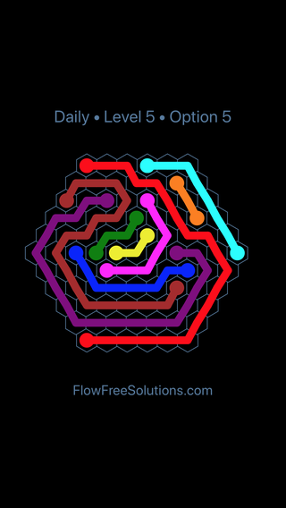 Solution and Answer to the Puzzle for Hexes Date Friday, January 11, 2019 Level 5