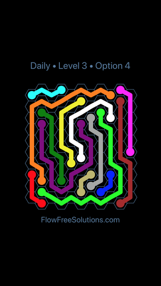 Solution and Answer to the Puzzle for Hexes Date Thursday, February 15, 2018 Level 3