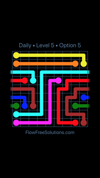Solution and Answer to the Puzzle for Warps Date Monday, April 16, 2018 Level 5