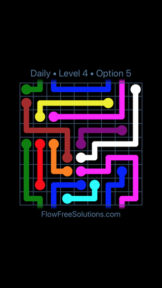Solution and Answer to the Puzzle for Warps Date Wednesday, April 18, 2018 Level 4
