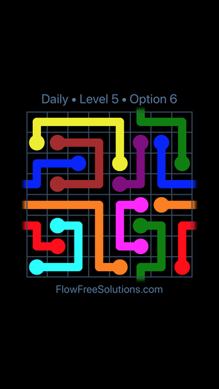 Solution and Answer to the Puzzle for Warps Date Wednesday, April 18, 2018 Level 5