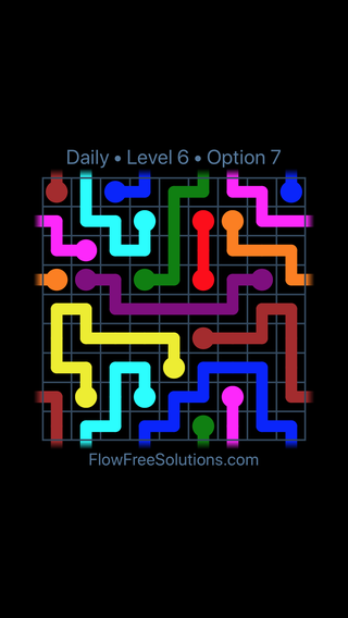 Solution and Answer to the Puzzle for Warps Date Sunday, September 8, 2019 Level 6