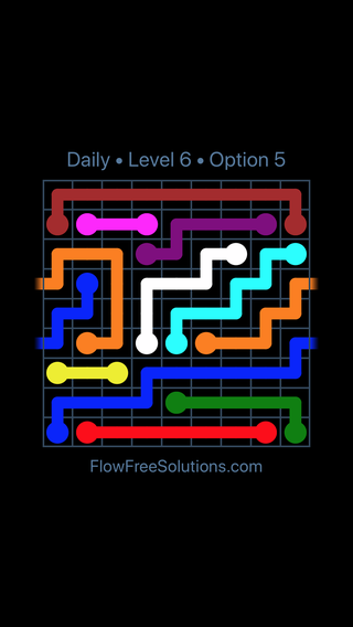 Solution and Answer to the Puzzle for Warps Date Wednesday, September 11, 2019 Level 6
