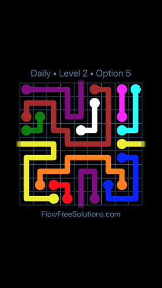 Solution and Answer to the Puzzle for Warps Date Monday, January 7, 2019 Level 2