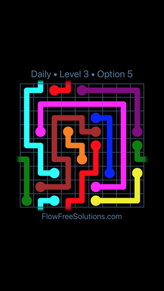 Solution and Answer to the Puzzle for Warps Date Wednesday, January 10, 2018 Level 3