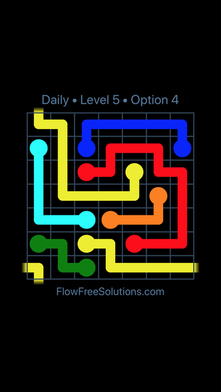 Solution and Answer to the Puzzle for Warps Date Tuesday, April 5, 2016 Level 5