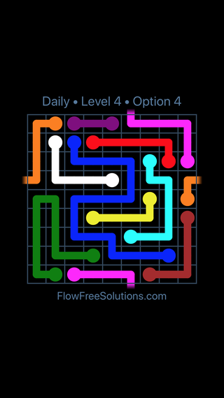 Solution and Answer to the Puzzle for Warps Date Wednesday, June 29, 2016 Level 4