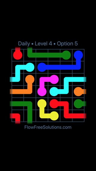 Solution and Answer to the Puzzle for Warps Date Thursday, January 10, 2019 Level 4