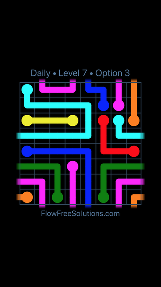 Solution and Answer to the Puzzle for Warps Date Sunday, July 3, 2016 Level 7