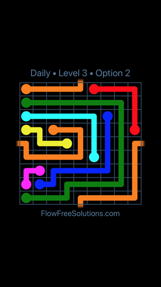 Solution and Answer to the Puzzle for Warps Date Monday, February 12, 2018 Level 3