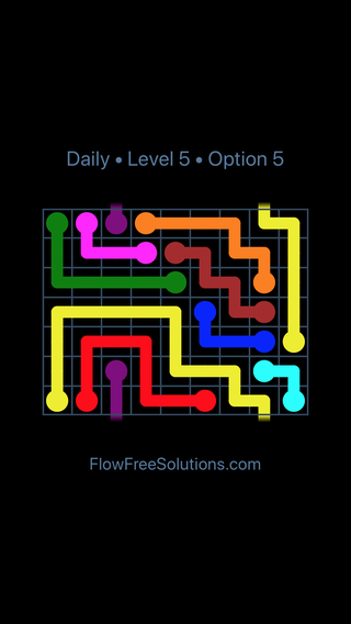 Solution and Answer to the Puzzle for Warps Date Thursday, January 11, 2018 Level 5