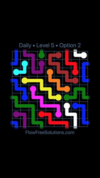 flow free solution puzzle du jour