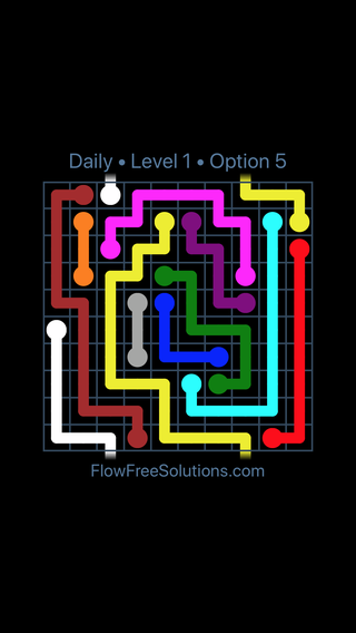 Solution and Answer to the Puzzle for Warps Date Sunday, May 1, 2016 Level 1
