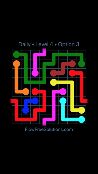 Solution and Answer to the Puzzle for Warps Date Sunday, May 1, 2016 Level 4