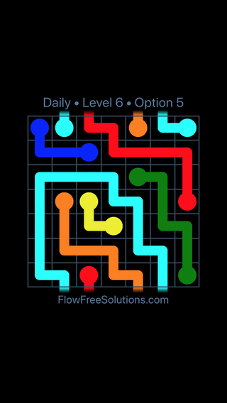 Solution and Answer to the Puzzle for Warps Date Sunday, June 5, 2016 Level 6