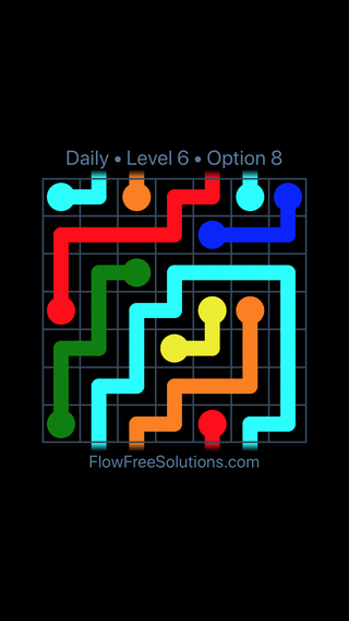 Solution and Answer to the Puzzle for Warps Date Sunday, March 13, 2016 Level 6