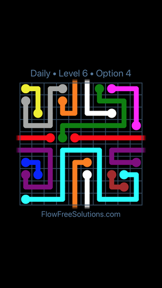 Solution and Answer to the Puzzle for Warps Date Sunday, August 11, 2019 Level 6