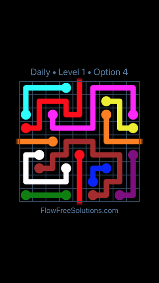 Solution and Answer to the Puzzle for Warps Date Wednesday, August 17, 2016 Level 1