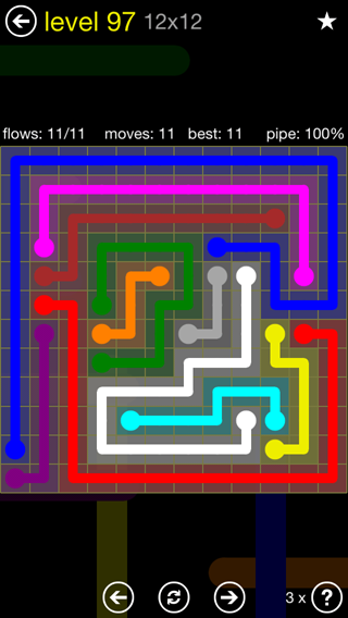 Solution and Answer to the Puzzle for Flow 12mania Pack Set 12x12 Level 97