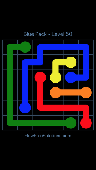 Solution and Answer to the Puzzle for Flow Free Blue Pack Level 20
