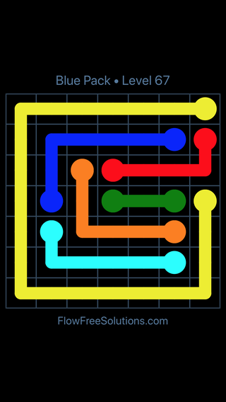 Solution and Answer to the Puzzle for Flow Free Blue Pack Level 7