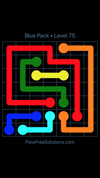 Solution and Answer to the Puzzle for Flow Free Blue Pack Level 15