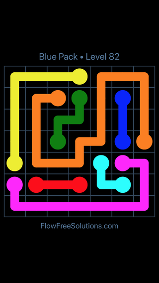 Solution and Answer to the Puzzle for Flow Free Blue Pack Level 22