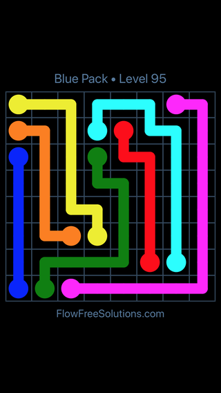Solution and Answer to the Puzzle for Flow Free Blue Pack Level 5