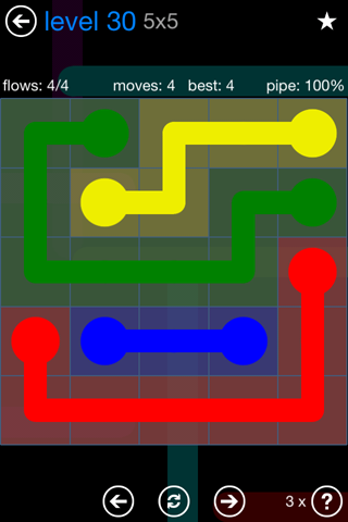 Solution and Answer to the Puzzle for Flow Bonus Pack Set 5x5 Level 30