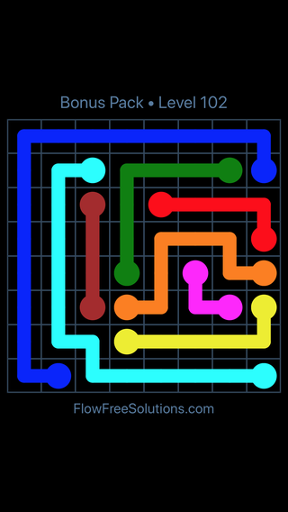 Solution and Answer to the Puzzle for Flow Free Bonus Pack Level 12