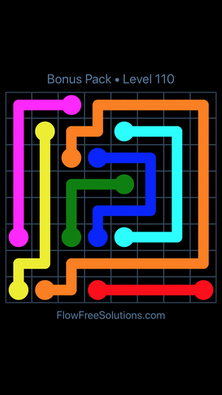 Solution and Answer to the Puzzle for Flow Free Bonus Pack Level 20