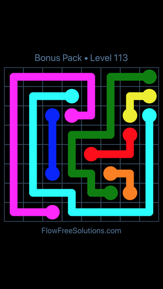 Solution and Answer to the Puzzle for Flow Free Bonus Pack Level 23