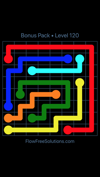 Solution and Answer to the Puzzle for Flow Free Bonus Pack Level 30