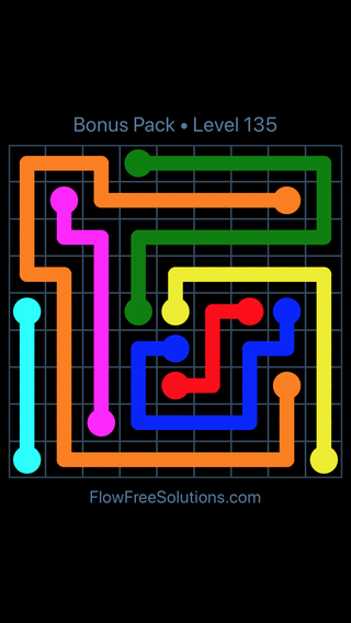 Solution and Answer to the Puzzle for Flow Free Bonus Pack Level 15