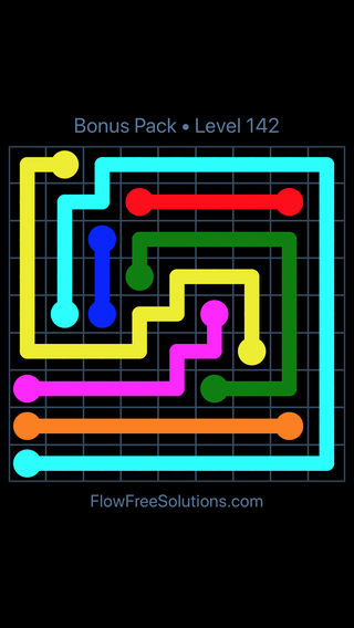 Solution and Answer to the Puzzle for Flow Free Bonus Pack Level 22