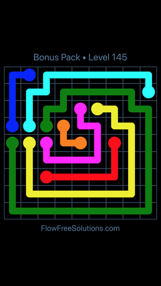 Solution and Answer to the Puzzle for Flow Free Bonus Pack Level 25