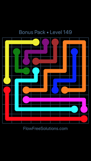 Solution and Answer to the Puzzle for Flow Free Bonus Pack Level 29