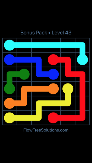 Solution and Answer to the Puzzle for Flow Free Bonus Pack Level 13