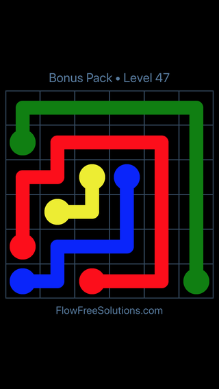 Solution and Answer to the Puzzle for Flow Free Bonus Pack Level 17