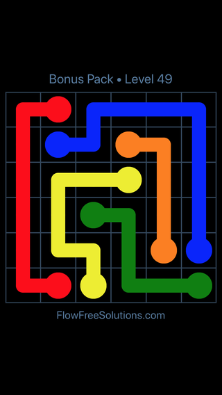 Solution and Answer to the Puzzle for Flow Free Bonus Pack Level 19