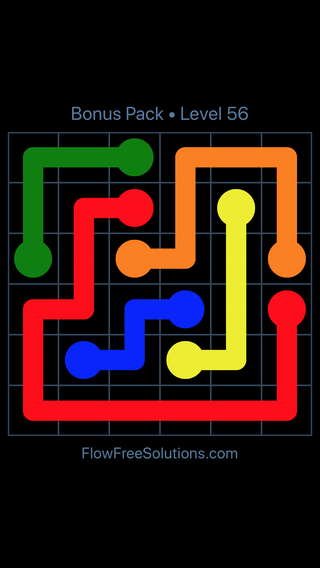 Solution and Answer to the Puzzle for Flow Free Bonus Pack Level 26