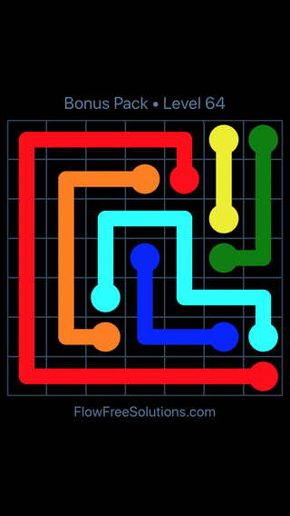 Solution and Answer to the Puzzle for Flow Free Bonus Pack Level 4