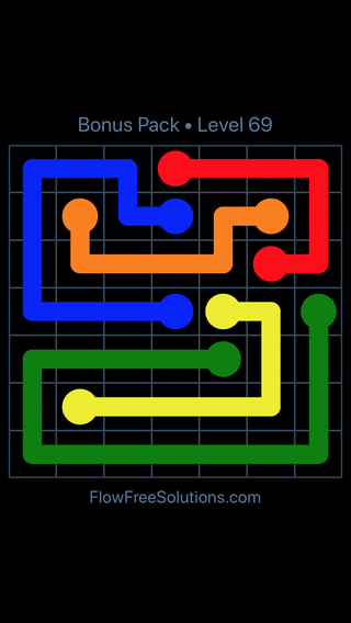 Solution and Answer to the Puzzle for Flow Free Bonus Pack Level 9