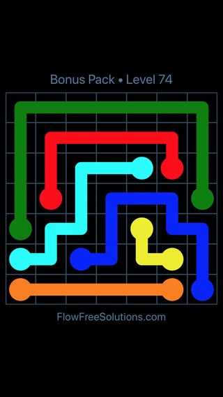 Solution and Answer to the Puzzle for Flow Free Bonus Pack Level 14