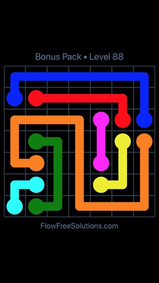 Solution and Answer to the Puzzle for Flow Free Bonus Pack Level 28
