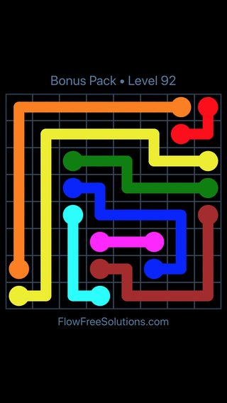 Solution and Answer to the Puzzle for Flow Free Bonus Pack Level 2